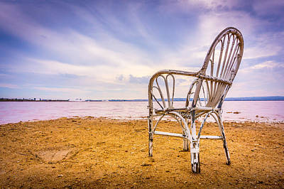 Photograph - Wicker Chair by Gary Gillette