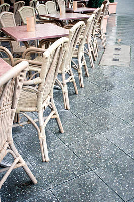 Local Food Photograph - Wicker Chairs by Tom Gowanlock