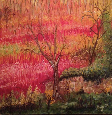Landscape Painting - Wicker Fields by Roxy Rich
