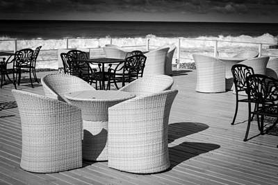 Photograph - Wicker Iron Chairs by John Williams