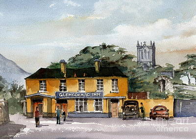 Painting -  Wicklow... Glencormac Inn Now Plucks by Val Byrne