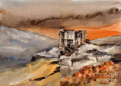 Painting - Wicklow... Reign Of Terror Film Set by Val Byrne