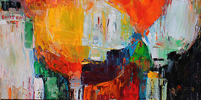 Painting - Wide Abstract F by Becky Kim