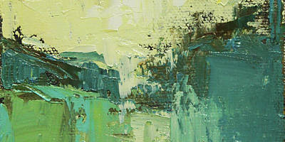 Painting - Wide Abstract H by Becky Kim