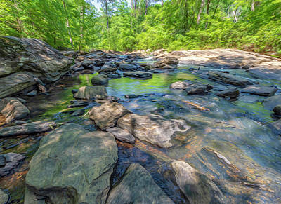 Digital Art - Wide Angle Creek by Keith Smith