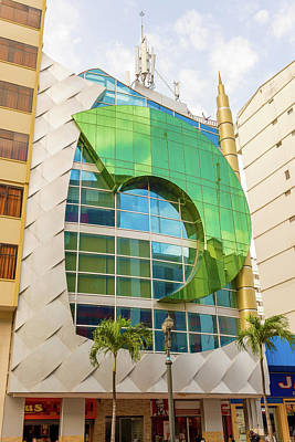 Photograph - Wide Angle View At The Modern Buildings In Downtown Of Guayaquil by Marek Poplawski