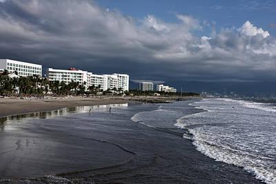 Nuevo Vallarta Photograph - Wide Beach Of Nuevo Vallarta At Vidanta Near Puerto Vallarta by Reimar Gaertner
