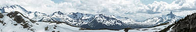 Photograph - Wide Mountain Range Panorama With Black Tusk From Whistler by Open Range