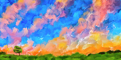 Cotton Mixed Media - Wide Open Skies by Mark Tisdale