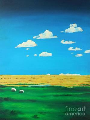 Wide Open Spaces And A Big Blue Sky Art Print