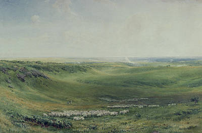 Collier Painting - Wide Pastures by Thomas Collier
