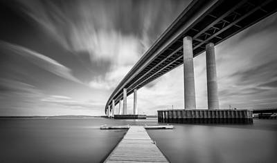Photograph - Wide  River Bridge by Gary Gillette