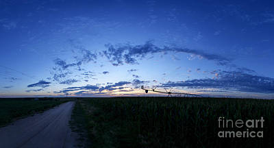Photograph - Wide Rural Sunset by Art Whitton