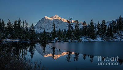 Whistler Photograph - Wide Shuksans Last Light Reflected by Mike Reid