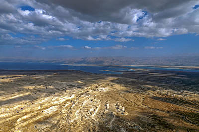 Photograph - Wide View From Masada by Dubi Roman