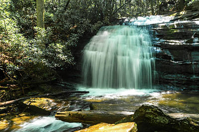 Photograph - Wide Waterfall 2 Georgia Mountains by Lawrence S Richardson Jr