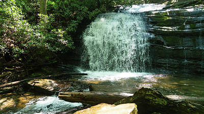 Photograph - Wide Waterfall Georgia Mountains by Lawrence S Richardson Jr