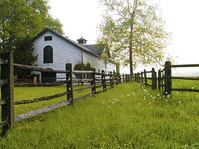 Barn Photograph - Widener Farms Horse Stable by Bill Cannon
