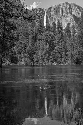 Photograph - Wider Reflection Yosemite Black And White  by John McGraw