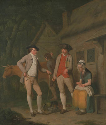 Painting - Widow Costard's Cow And Goods, Distrained For Taxes by Edward Penny