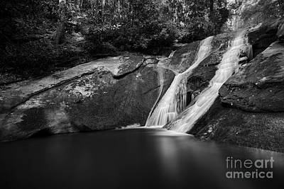 Photograph - Widows Creek Falls 2 Bw by Patrick M Lynch