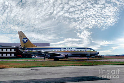 Fixed Wing Multi Engine Photograph - Wien Air Alaska Boeing 737, N4907 by Wernher Krutein
