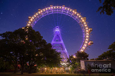 Riesenrad Photograph - Wiener Riesenrad, Prater by Travel and Destinations - By Mike Clegg