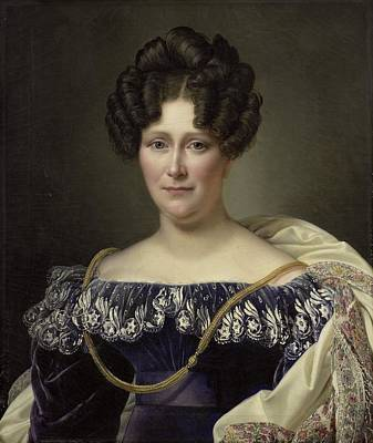 Dubois Painting - Wife Of Daniel Francis Schas by MotionAge Designs