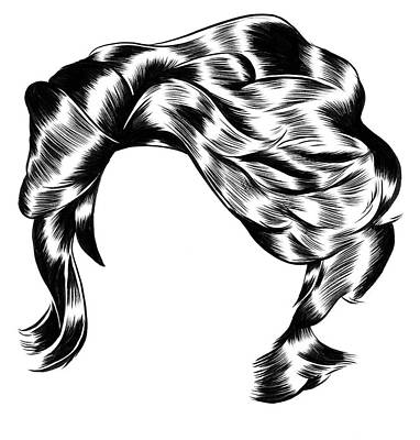 Drawing - Wig Without Face by Kelsey Dake