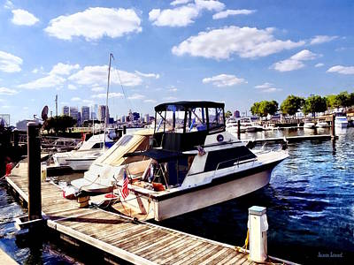 Photograph - Wiggins Park Marina by Susan Savad