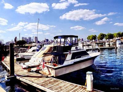 Boat Basin Photograph - Wiggins Park Marina by Susan Savad