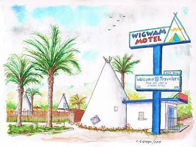 San Carlos Painting - Wigman Motel, Route 66, San Bernardino, Ca by Carlos G Groppa