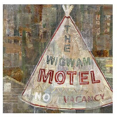 Smokey Mountains Mixed Media - Wigwam Motel by Karin Quinn