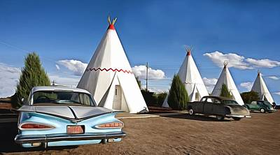 Photograph - Wigwam Motel Route 66 Holbrook Arizona by Carol Highsmith