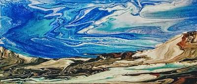 Wiinter At The Beach Art Print