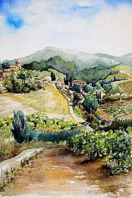 Painting - Wijngaard In De Pyreneen by Arie Van Garderen