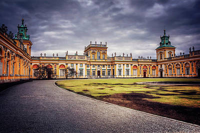 Wilanow Palace In Warsaw  Art Print by Carol Japp