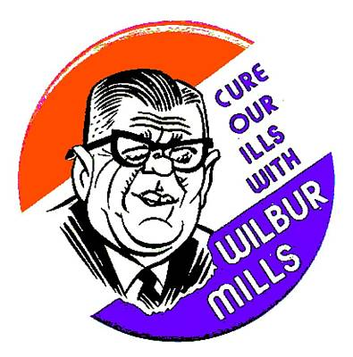 Democratic Mixed Media - Wilbur Mills For President 3a by Otis Porritt