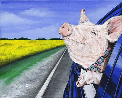 Swine Painting - Wilbur by Twyla Francois