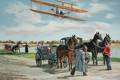 Wilbur Wright In France Art Print by Kenneth Young