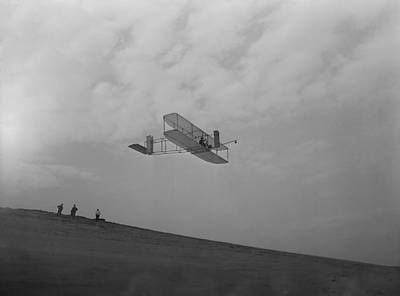 Bsloc Photograph - Wilbur Wright Pilots A Glider by Everett