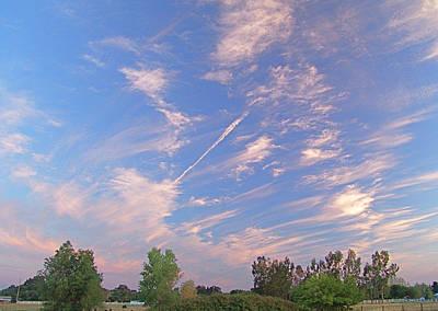 Wild And Crazy Sky Art Print by John Norman Stewart