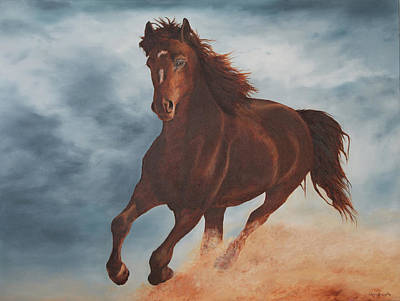 Stride Painting - Wild And Free by Christine Brunette