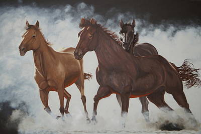 Western Painting - Wild And Free by Hugh Blanding