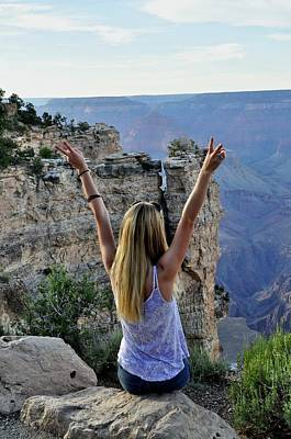 Grand Canyon Mixed Media - Wild And Free by Sonja Dover