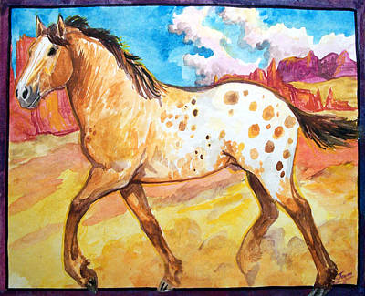 Wild Appaloosa Horse Art Print