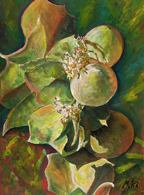 Painting - Wild Apples In Bloom by Miki  Sion