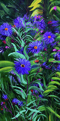 Wild Asters Painting - Wild Aster Study by Haley Grebe