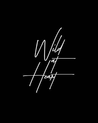 Mixed Media - Wild At Heart - Minimalist Print - Black And White by Studio Grafiikka