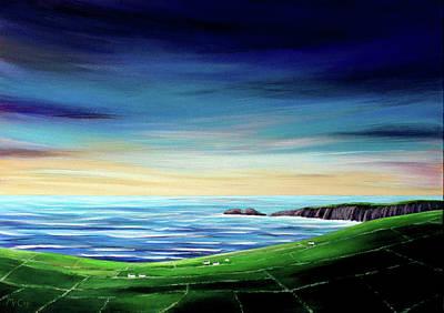 Painting - Wild Atlantic Way Sunset  by K McCoy